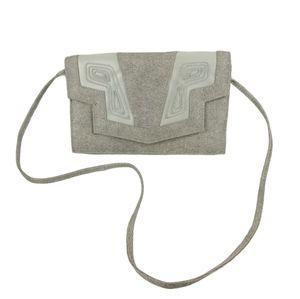 VTG cream metallic J RENEE purse